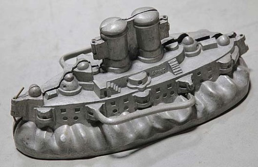 A pewter ice cream mold in the form of a ship. (Photo: Garth's Auctions)