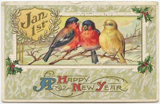 A New Year's postcard from 1913.