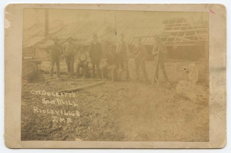 It's possible some of these men were killed or injured during the boiler explosion at C.W. Collett's saw mill the year after this image was taken.