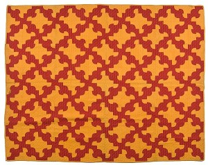 Made in Indiana in the mid 19th century, this Drunkard's Path quilt sold for $587.50 at Cowan's Auction in October 2011. Price for textiles are slowly starting to improve, according to Diane Wachs. (Photo: Cowan's Auctions)