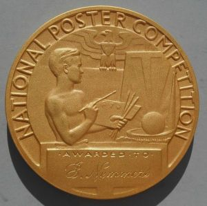 From the 1939-40 New York World's Fair, this bronze medal was awarded in a graphics design contest. It sold for $133 during a World's Fair auction conducted in February 2015. (Photo: Andy Kaufman)